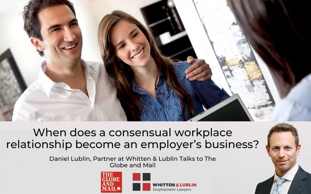 When does a consensual workplace relationship become an employer's business?