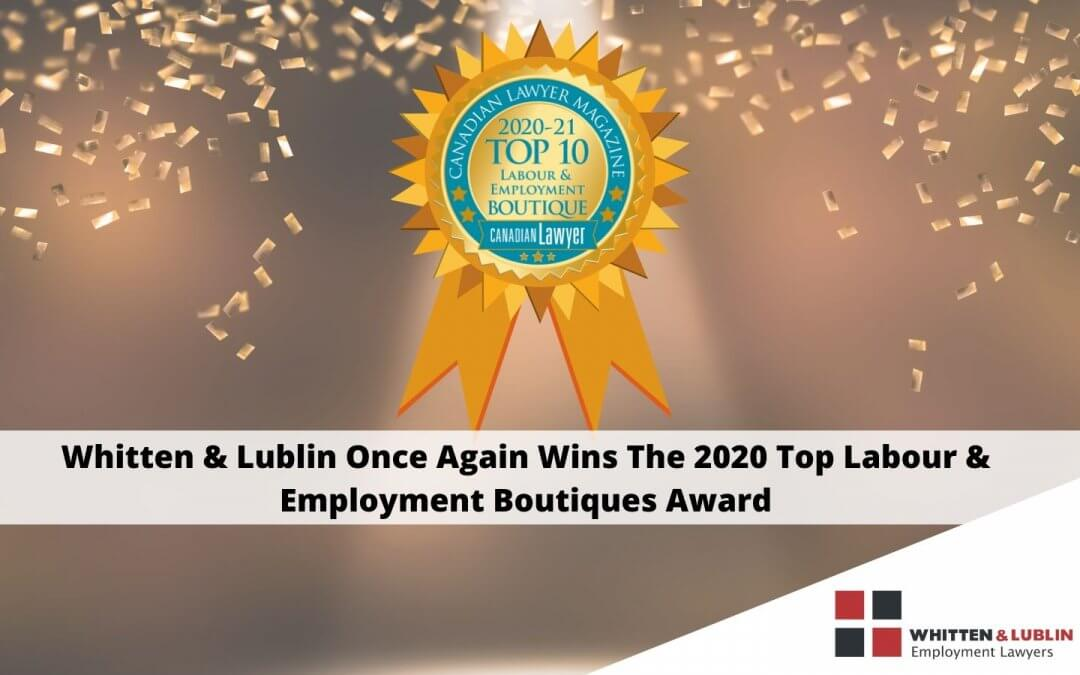 2020 Top 10 Labour & Employment Boutiques