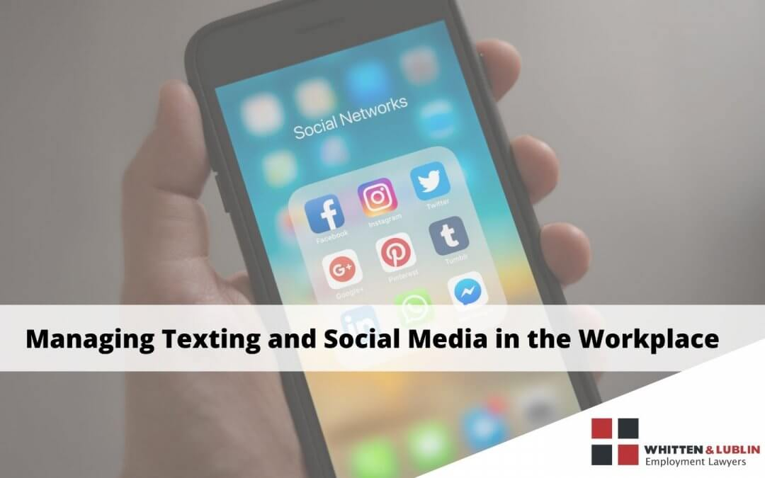 texting and social media in the workplace