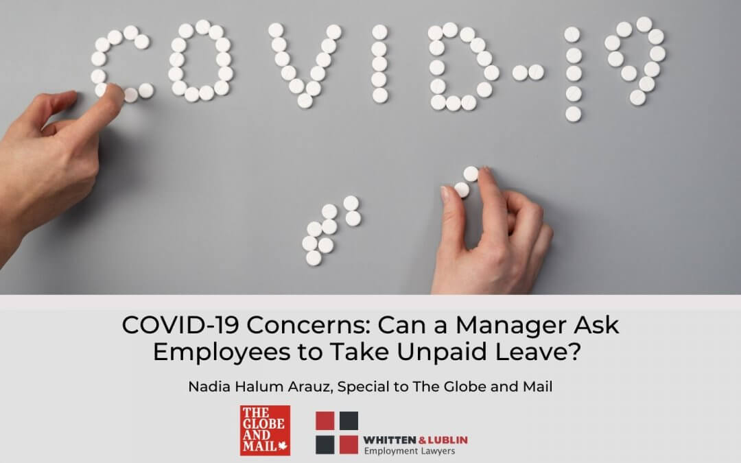 Can a Manager Ask Employees to Take Unpaid Leave? Is it Legal? COVID-19 Concerns
