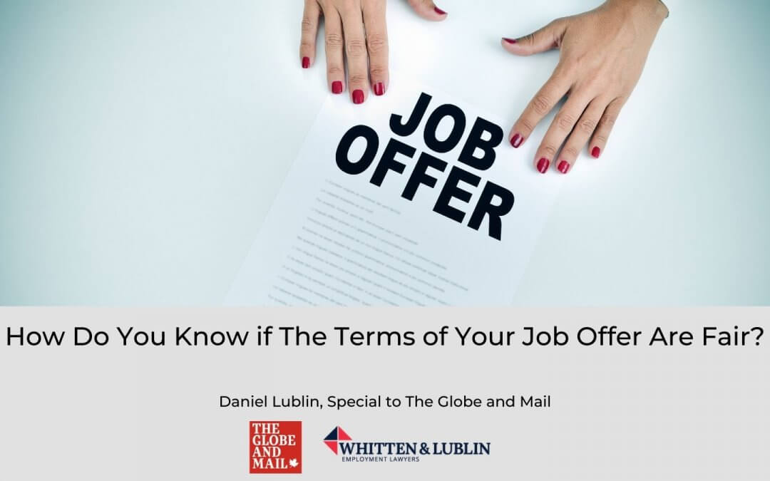 How Do You Know if The Terms of Your Job Offer Are Fair