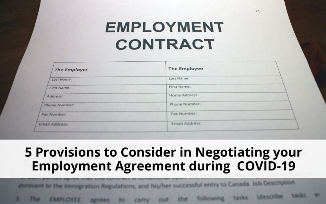 Negotiating your employment agreement during COVID-19