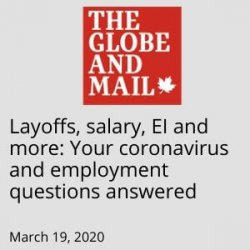 Globe & Mail in the news - March 19 2020
